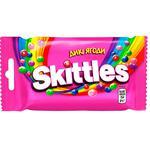 Драже Skittles Дикі ягоди жувальні в різнокольоровій цукровій оболонці 38г