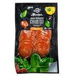 Колбаса Юбилейный Chorizo сырокопченая высшего сорта нарезка 80г