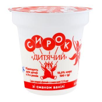Slovyanochka Baby Curd with Vanilla Taste 15% 100g