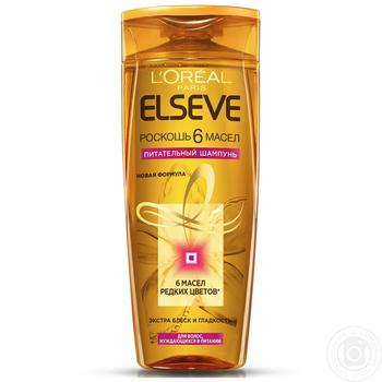 Elseve Shampoo Luxury 6 oils nourishing oils for all hair types 400ml - buy, prices for Auchan - image 4
