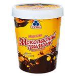 Мороженое Рудь Шоколадный грильяж с кусочками миндаля и глазурью 500г - купить, цены на Ашан - фото 1