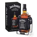 Виски Jack Daniel's Tennessee Old №7 40% 3л с подставкой-качелями в подарочной упаковке