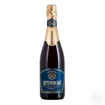 Sparkling wine Azshv Private import white sparkling 13.5% 750ml glass bottle Ukraine