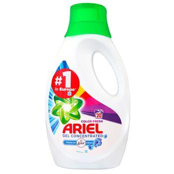 Рідкий пральний порошок Ariel Touch Of Lenor Color 1,1л - купити, ціни на Ашан - фото 1