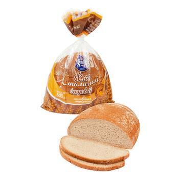 Хліб Кулиничі Столичний подовий половинка нарізаний 500г - buy, prices for Auchan - photo 1