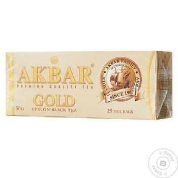 Чай Akbar Gold Цейлонский черный 25шт*2г