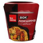 Лапша рисовая Katana тонкая с мясом и овощами в соусе Блэк Пеппер 300г