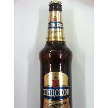 Пиво Лидское Классическое светлое 5.1%об. стеклянная бутылка 500мл Белоруссия