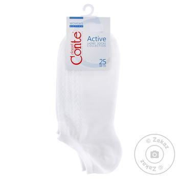 Шкарпетки жіночі Conte CE Active ультракороткі р.25 - купити, ціни на МегаМаркет - фото 1