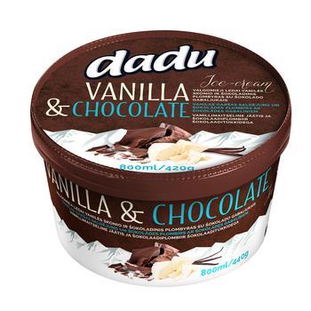 Мороженое Dadu Шоколадное 800мл