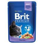 Вологий корм для котів Brit Premium Cat Cod Fish pouch тріска 100г