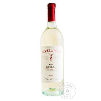 Вино Messer del Fauno Terre Siciliane Bianco Grillo белое сухое 12.5% 0.75л
