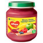 Пюре Milupa яблоко-банан-черника-малина 125г