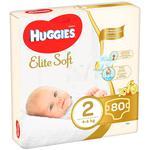 Подгузники Huggies Elite soft 4-6кг 80 шт
