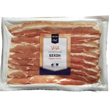 Скидка на Бекон Metro Chef Грудинка Карпаччо сырокопченый нарезанный слайсами 450г