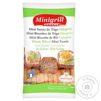 Тости Diatosta Minigrill пшеничні з цільного зерна мiнi 90г