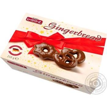 Пряники Lambertz в темном шоколаде 250г - купить, цены на Ашан - фото 1