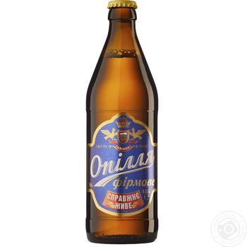 Пиво Ополье Фирменное живое светлое 5.7% 0.5л