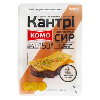 Komo Country With Baked Milk Taste Sliced Semi-Hard Cheese 50% 150g