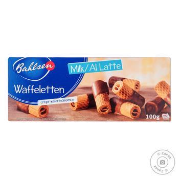 Печенье Bahlsen Waffeletten в молочном шоколаде 100г - купить, цены на Восторг - фото 1