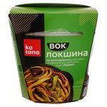 Лапша Katana по-вегетариански с овощами и древесными грибами в соусе Терияки 250г