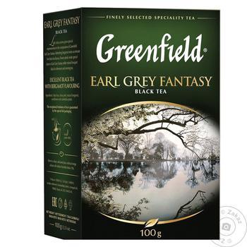 Чай чорний Greenfield Earl Grey Fantasy с бергамотом 100г - купити, ціни на Novus - фото 1