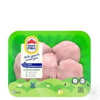 Бедро Наша Ряба цыпленка-бройлера охлажденное (упаковка PET ~ 1,1кг) - купить, цены на Ашан - фото 1