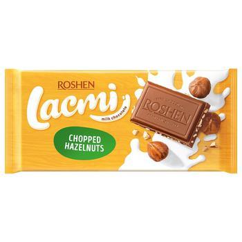 Шоколад экстрамолочный Рошен Классик с дроблеными лесными орехами 90г