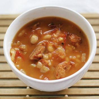 Итальянский суп с бобами