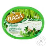 Cream-cheese Rasa with greens processed 62% 180g