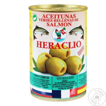 Оливки Херакліо 300 г ж/б Сьомга /131 (Іспанія)
