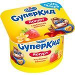 Йогурт Савушкин СуперКид Полуниця-ваніль для дітей 2% 120г