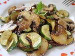 Печеные грибы с кабачками