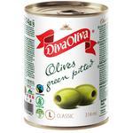 Оливки Diva Oliva зеленые без косточки 300г - купить, цены на Фуршет - фото 1