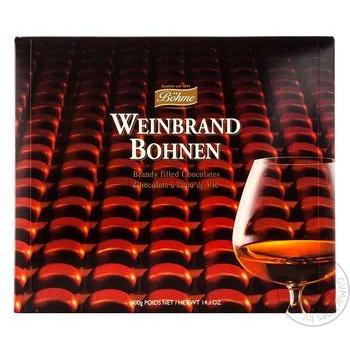 Конфеты шоколадные Böhme Weinbrand Bohnen c бренди 400г