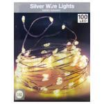 Гирлянда 100 LED ламп теплый свет 5,1м