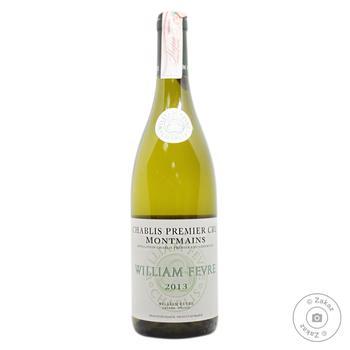 Вино Domaine William Fevre Chablis Premier Cru Montmains белое сухое 13% 0.75л