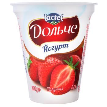 Йогурт Дольче клубника 3,2% 280г