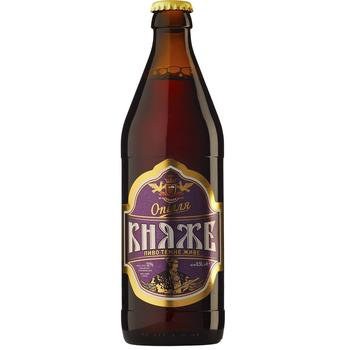 Пиво Ополье Княже живое тёмное 4.8% 0.5л