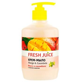 Крем-мыло жидкое Fresh juice Манго и карамболь 460мл