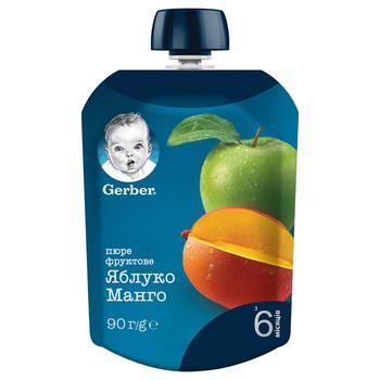 Пюре Gerber Яблуко і манго для дітей з 6 місяців 90г