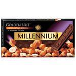 Шоколад Millennium Golden Nut черный с цельными лесными орехами 90г