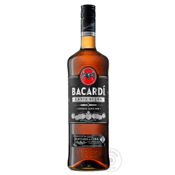 Bacardi Carta Negra Dark Rum 40% 1l - buy, prices for Novus - image 1