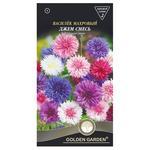 Семена Golden Garden Цветы Василек махровый Джем смесь 0,5г