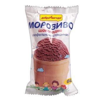 Ice-cream Dobra vygoda with chocolate waffle cup 60g Ukraine