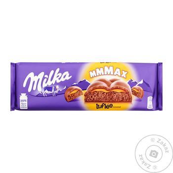 Шоколад Milka Bubbles с карамельной начинкой 250г