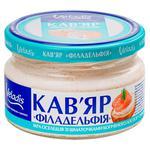 Икра сельди Veladis Кавьяр в сырном соусе с копченым лососем 160г