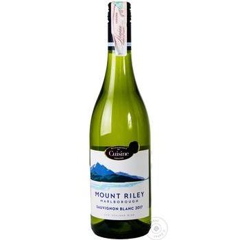Вино Mount Riley Marlborough Sauvignon Blanc белое сухое 12,5% 0,75л