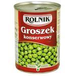 Горошок Rolnik зелений консервований 400мл