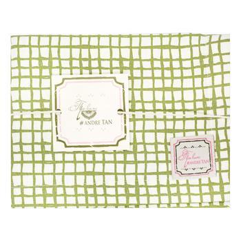 Скатерть-дорожка Прованс Andre Tan оливковая клеточка 140х40см - купить, цены на Novus - фото 1